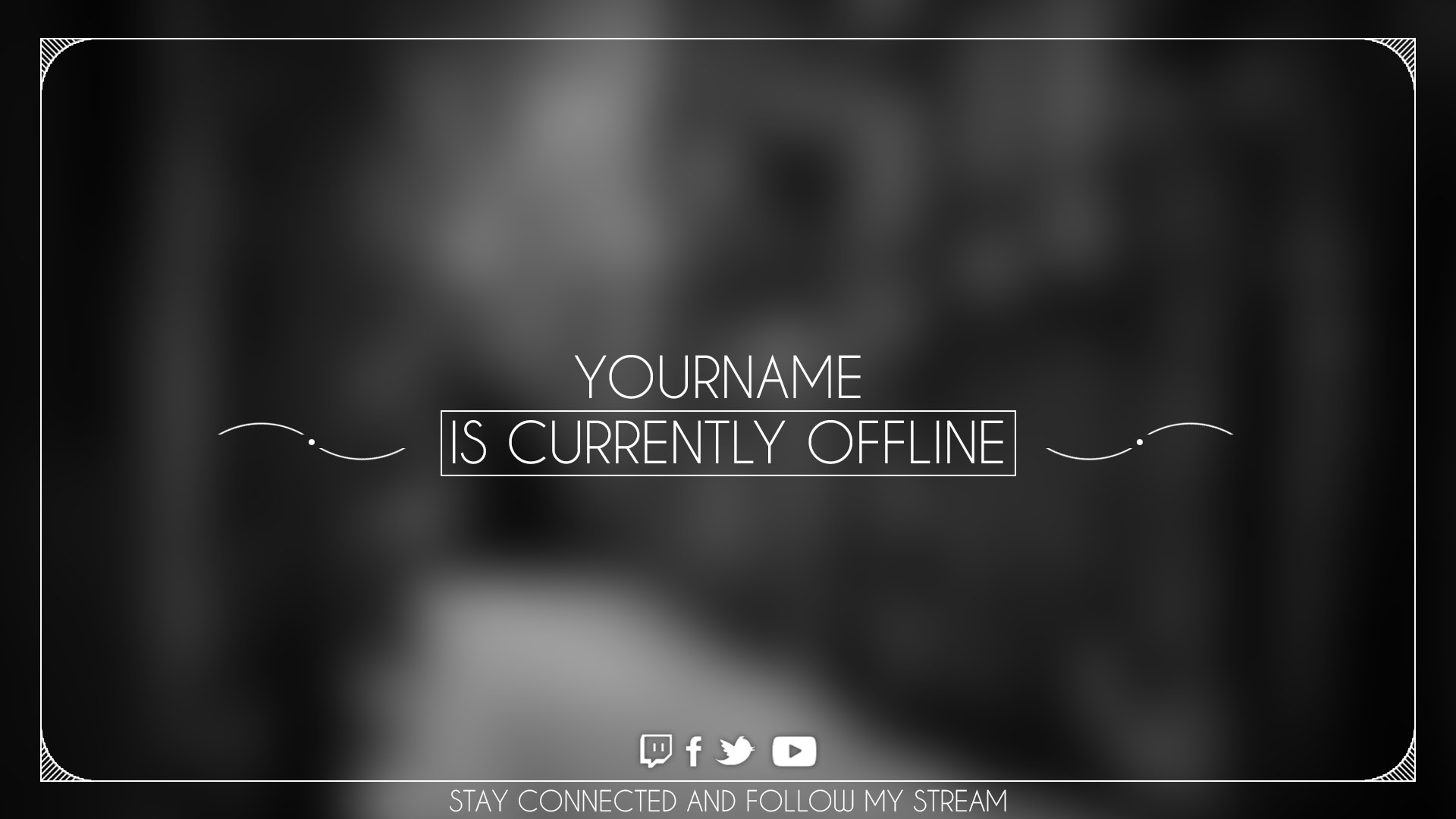 alpha offline screen twitch with psd template download. Black Bedroom Furniture Sets. Home Design Ideas